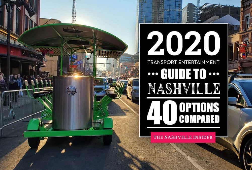 Transport Entertainment Guide to Nashville - Best Party Vehicles & Pedal Taverns