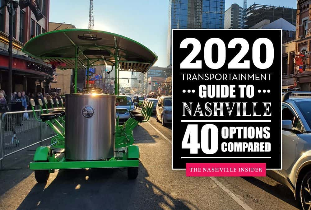 Transportainment Guide to Nashville – 40 Party Vehicles Compared – Prices & More