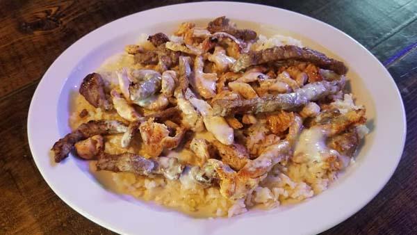 delicious cheesy chicken and queso
