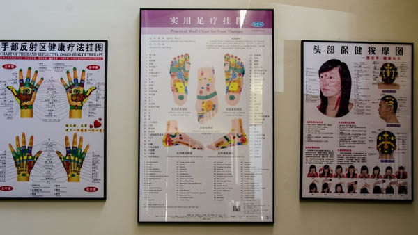 Reflexology Treatment Chart